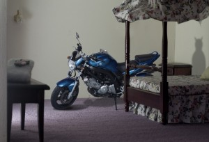 Motorcycle in the Bedroom